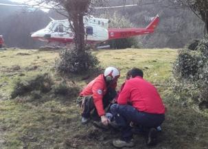 Evacuado un senderista con posible fractura del tobillo del monte Ozcaba
